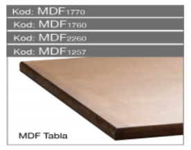 MDF Platte 1700x600x25